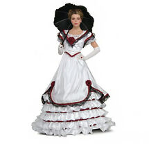 Grand Heritage Collection White Southern Belle Costume Womens Dress Size S 6-10