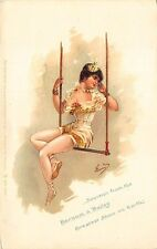 "Barnum & Bailey ""Greatest Show on Earth"" Circus Woman Performer Signed Postcard"