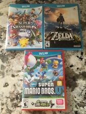Wii U Smash Bros - Zelda Breath of the Wild - New Super Mario Bros. U + Luigi U