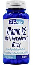 Vitamin K2 as Menaquinone-7 - 100mcg Cardiovascular Bone Health Calcium Absorp