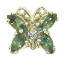 14K Yellow Gold KLJCI Richard Klein Slide Bracelet Charm Green To Butterfly N360
