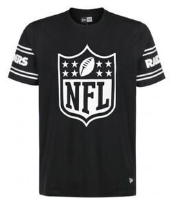 NEW Las Vegas Raiders New Era NFL Badge T-Shirt Black Tee Official Product