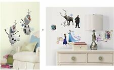 DISNEY FROZEN Wall Decals 2 box set - OLAF ELSA ANNA SVEN Bedroom Sticker Decor