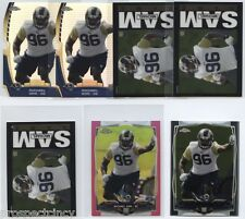 Lot of (51) Michael Sam 2014 Topps Chrome Mini RC Cards w/ Parallels - STL Rams