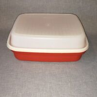 Pre-Owned Tupperware Paprika Large Marinate Container & Lid (1294 & 1295)
