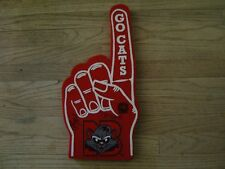 New Britain Rock Cats Go Cats Foam Finger Autographed by Mascots Rocky Blooper