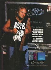 Van Halen Michael Anthony 1999 Dean Markley Strings Promo Poster Ad