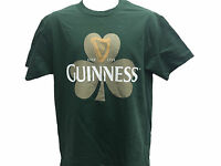Guinness Beer Ireland Clover Shamrock Classic Retro Vintage Men's T shirt M-2XL