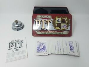 Classic Pit Card Game In Tin With Bell Decent Shape 100% Complete!