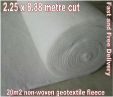20m2 Geotessile MEMBRANA perdita per infiltrazione Crate Avvolgimento le erbacce gratuito consegna 2.25 x 8.8m