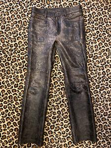 Rare Diesel Style Lab  pantalon en cuir vieilli Taille 30US 42FR