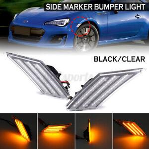 2PCS LED Side Marker Bumper Indicator Light For Toyota 86 Subaru BRZ Scion FR-S