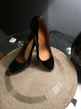 Michael Kors Patent Black Leather Women's Shoes Heels Size 7,5M