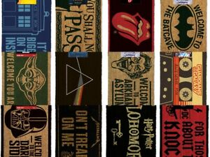 New Official Doormats Choose from Batman,Harry Potter, Dr Who,AC/DC,Yoda & more