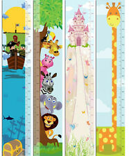 NEW: Kids Height Ruler Growth Measure Chart Giraffe / Castle / Pirate / Animals
