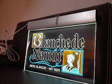 enseigne lumineuse bière BLANCHE DE NAMUR