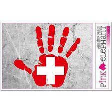 Aufkleber - Schweiz - Hand - Fahne - bumper sticker - car - flag - Flagge - mano