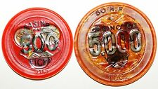 Bundle 2 Tokens Casino Gingham 500 And 5000 Francs