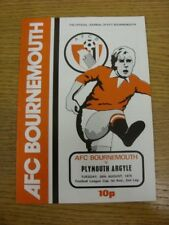 26/08/1975 Bournemouth v Plymouth Argyle [Football League Cup] (Neat Team Change