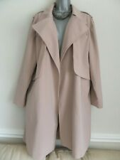 ATMOSPHERE GORGEOUS NUDE BEIGE OPEN FRONT WATERFALL STYLE TRENCH COAT SIZE 18