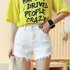Sexy Women Tassel Design Mini Shorts Denim Short Jeans Hot Pants Trousers UK6-12
