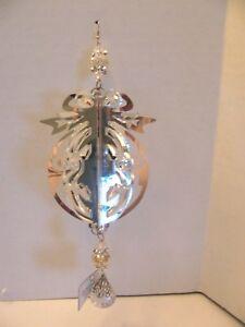 December Diamonds 3D Silver Acrylic  Christmas Ornament Decoration
