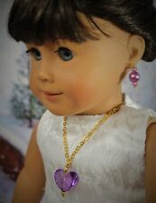 NECKLACE EARRINGS JEWELRY FOR AMERICAN GIRL DOLL AND BITTY TWINS ACCESSORIES