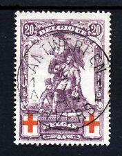 BELGIUM 1914 Red Cross 20c.+20c. Red & Violet SG 153 VFU