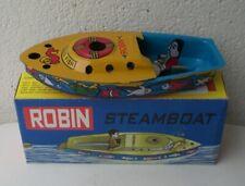Bateau tôle vapeur pop-pop steam Boat boot tin toy ROBIN
