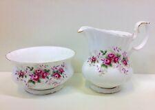 "Royal Albert Montrose Shape ""Lavender Rose"" Pattern Milk Jug & Bowl (Unused)."