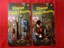 """2 pack Rip Cord Skateboards- 4"""" Long ea.- Cool Graphics Brand New FAST FREE SHIP"""