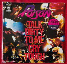 "POISON I WON'T FORGET YOU 7"" JAPAN vinyl Glam R'n'R Guns Motley Bon Jovi complet"