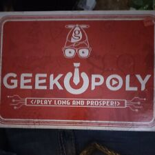 Geekopoly Monopoly for Geeks Board Game Play Long and Prosper!! SEALED!