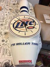 2003 Miller Light Bowling Pin Clock 35 Inches Works Lightweight Plastic Bar
