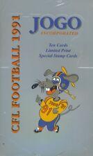 1991 JOGO CFL Unopened Box (36 packs, 360 cards)