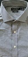 RALPH LAUREN BLACK Men Slim Fit Cotton Long Sleeve Polo Dress Shirt - 16.5x32/33