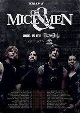 Of Mice & Men/Woe, Is Me 2013 North American Concert Tour Poster-Metalcore Music