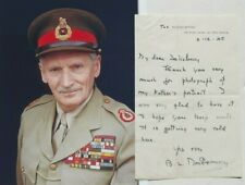 Field Marshal Bernard Law Montgomery World War II British General Signed Letter.