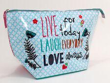 Taj Wood SCHERER Bolsa de aseo neceser para cosméticos Bag Live Laugh Love