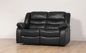 WHOLESALE TWO Seater Recliner Sofa Lounge Black Brown Bonded Leather Living Room