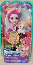 """Enchantimals 6"""" MAYLA MOUSE Doll & Pet Friend FONDUE 4+ New"""