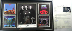 SIGNED RUSH AUTOGRAPHED 8X10 DISPLAY PRO FRAME CERTIFIED AUTHENTIC JSA # XX02900