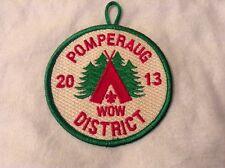 Boy Cub Scout 2013 Pomperaug District WOW/Cub-O-Ree Patch