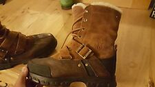 Polo Ralph Lauren Lace Up Casual Leather Boots Mens Size 7. 5 Brown Tavin