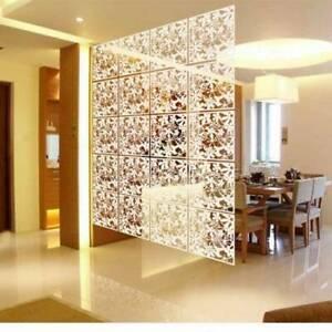 12tlg Paravent Wand Trennwand Raumteiler Sichtschutz Raumtrenner Vorhang Weiß