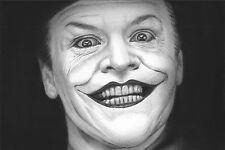 """Batman Joker Jack Nicholson 12x18"""" estirada lona impresión de arte"""