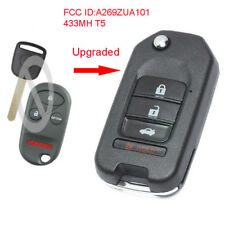 Upgraded Flip Remote Key 433MHz T5 Chip for Honda Odyssey Pilot FCC: A269ZUA101