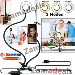 24 LED Ring Light with Stand for Youtube Tiktok Makeup Video Live Phone Selfie