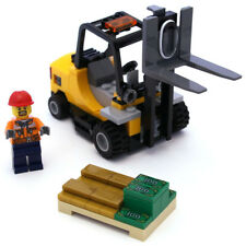 Lego Genuine City Cargo Forklift Truck Bank Gold Cash Pallet from 60198 NEW