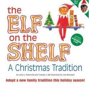 ELF ON THE SHELF Christmas Tradition Brown Eye Boy & Story Book Xmas NEVER USED!
